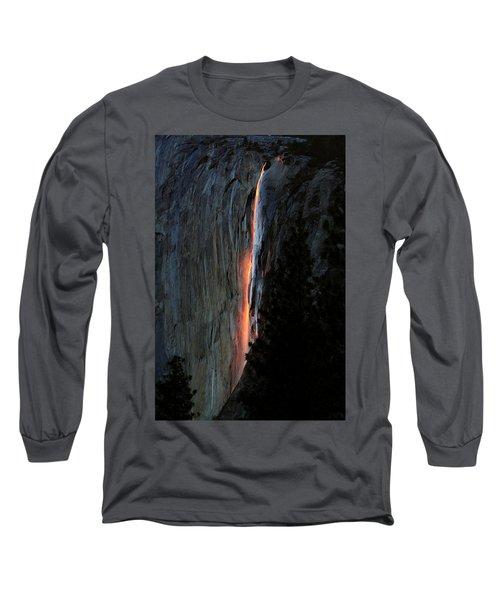 Horsetail Falls Aglow Long Sleeve T-Shirt