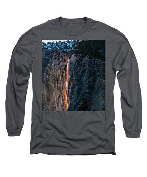 Horsetail Water Fall Glow Long Sleeve T-Shirt