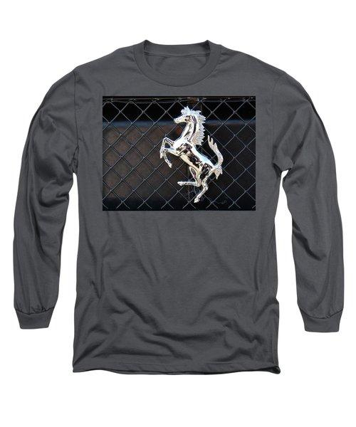 Long Sleeve T-Shirt featuring the photograph Horsey by John Schneider