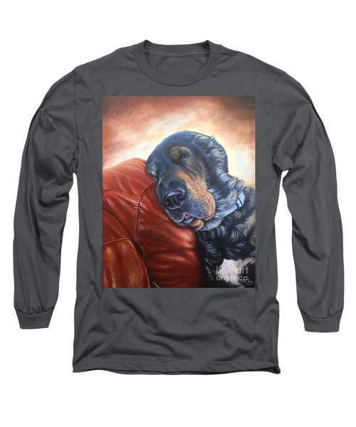 Long Sleeve T-Shirt featuring the painting Hoss by Mike Ivey