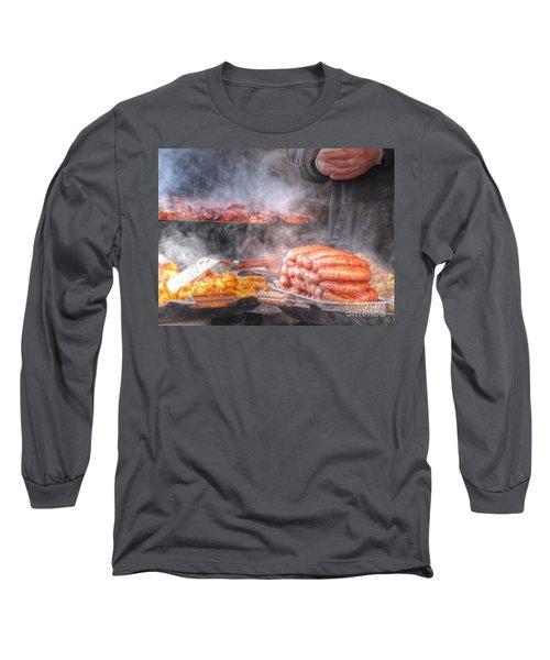 Hot Sausage Hot Dog Long Sleeve T-Shirt by Yury Bashkin