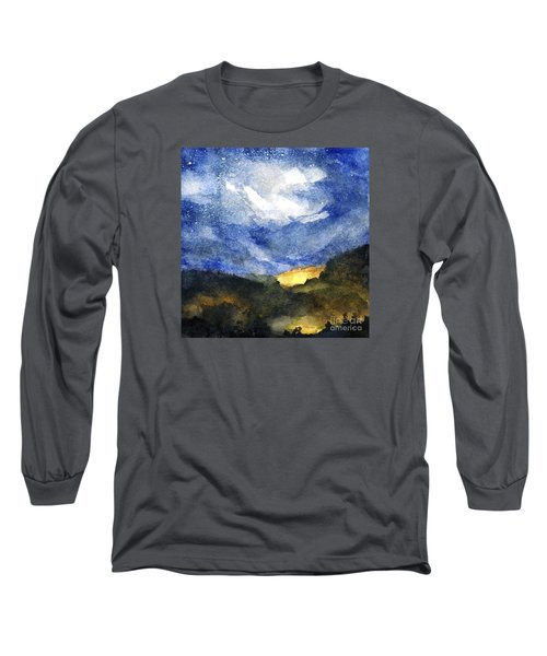 Hot Spots In Our Mountains Tonight Long Sleeve T-Shirt by Randy Sprout