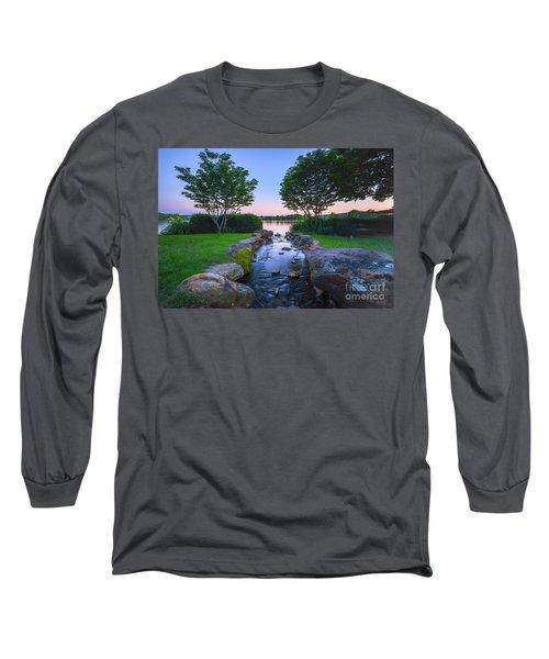 Hot Spring Water Flow Long Sleeve T-Shirt