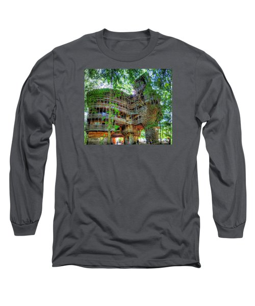 Long Sleeve T-Shirt featuring the painting Hotel California by Mario Carini