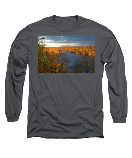 Long Sleeve T-Shirt featuring the photograph Housatonic In Autumn by Karol Livote