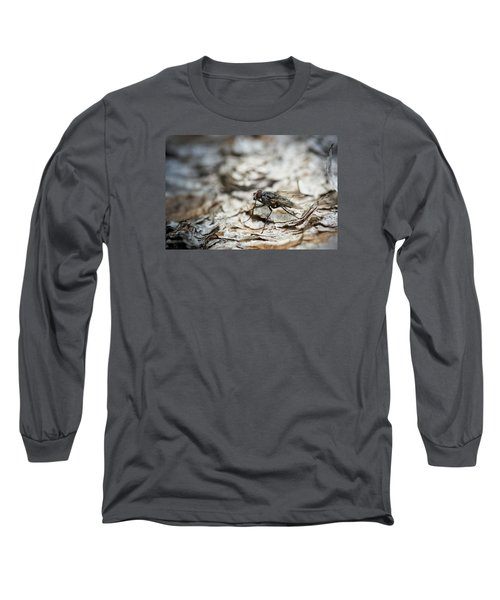 Long Sleeve T-Shirt featuring the photograph House Fly by Chevy Fleet
