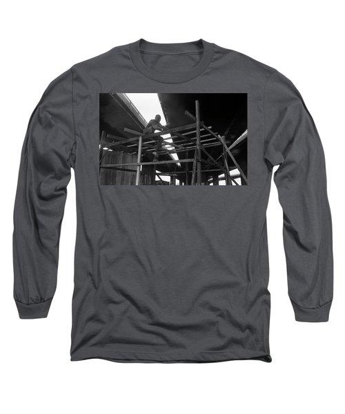 Wooden House Construction Long Sleeve T-Shirt