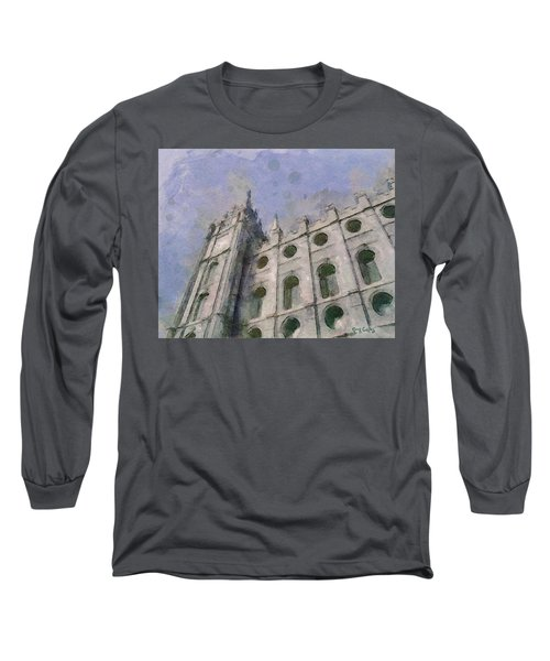 Long Sleeve T-Shirt featuring the painting House Of Faith by Greg Collins