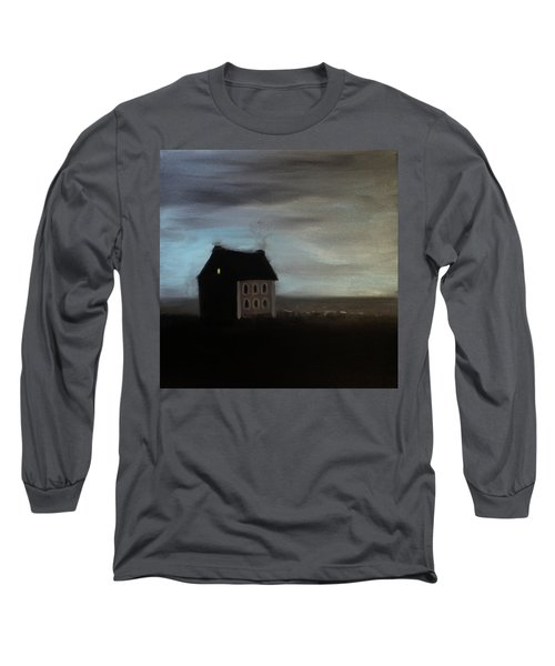 Long Sleeve T-Shirt featuring the painting House On The Praerie by Tone Aanderaa