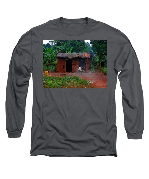 Housecleaning Africa Style Long Sleeve T-Shirt by Exploramum Exploramum