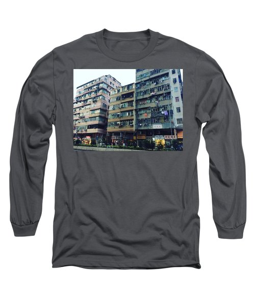 Houses Of Kowloon Long Sleeve T-Shirt by Florian Wentsch