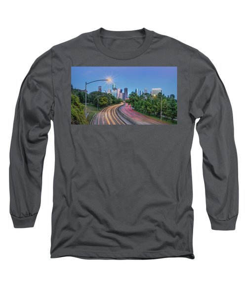 Houston Evening Cityscape Long Sleeve T-Shirt