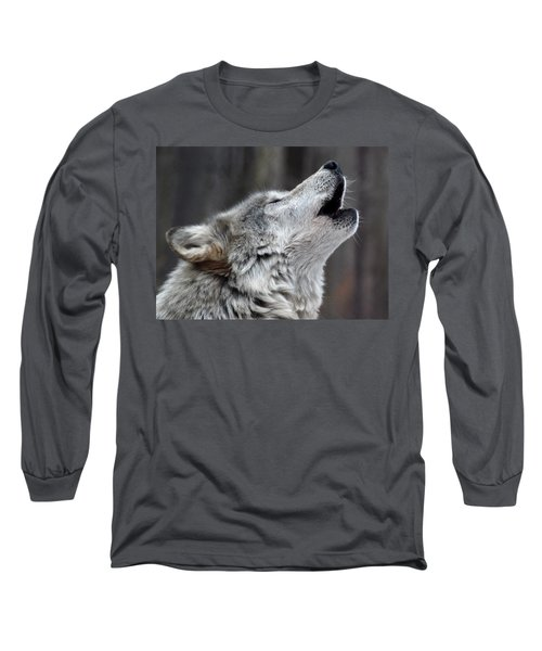 Long Sleeve T-Shirt featuring the photograph Howl by Richard Bryce and Family