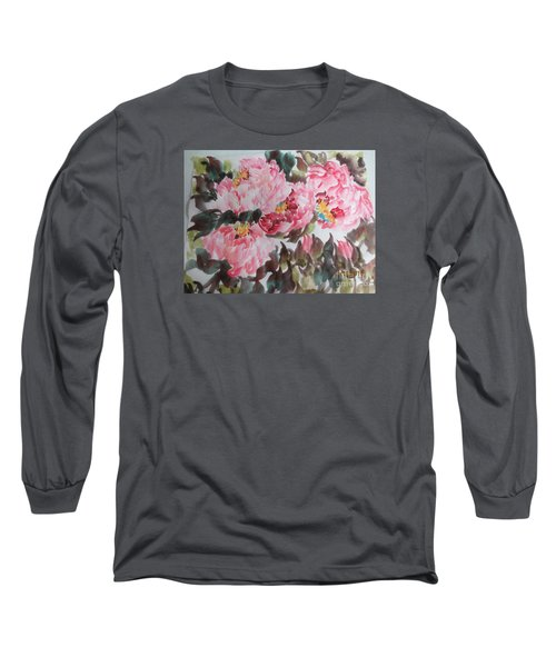 Long Sleeve T-Shirt featuring the painting Hp11192015-0754 by Dongling Sun