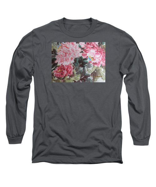 Long Sleeve T-Shirt featuring the painting Hp11192015-0758 by Dongling Sun
