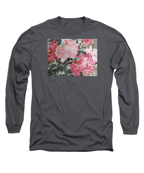 Long Sleeve T-Shirt featuring the painting Hp11192015-0759 by Dongling Sun