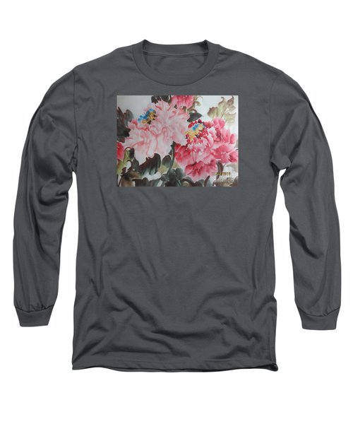 Long Sleeve T-Shirt featuring the painting Hp11192015-0760 by Dongling Sun