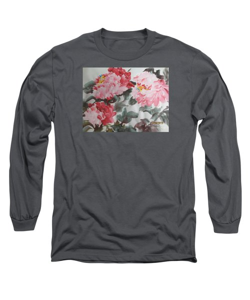 Long Sleeve T-Shirt featuring the painting Hp11192015-0762 by Dongling Sun