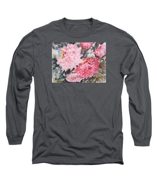 Long Sleeve T-Shirt featuring the painting Hp11192015-0768 by Dongling Sun
