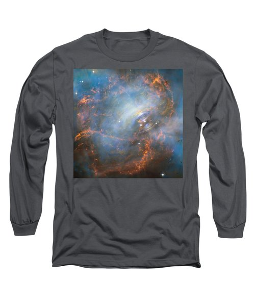 Long Sleeve T-Shirt featuring the photograph Hubble Captures The Beating Heart Of The Crab Nebula by Nasa