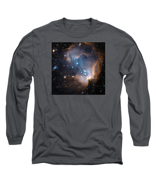 Hubble's View Of N90 Star-forming Region Long Sleeve T-Shirt by Nasa