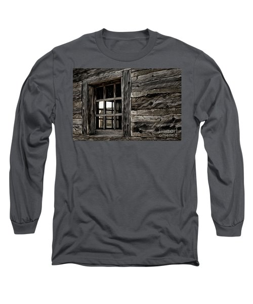 Long Sleeve T-Shirt featuring the photograph Hudson Bay Fort Window by Brad Allen Fine Art