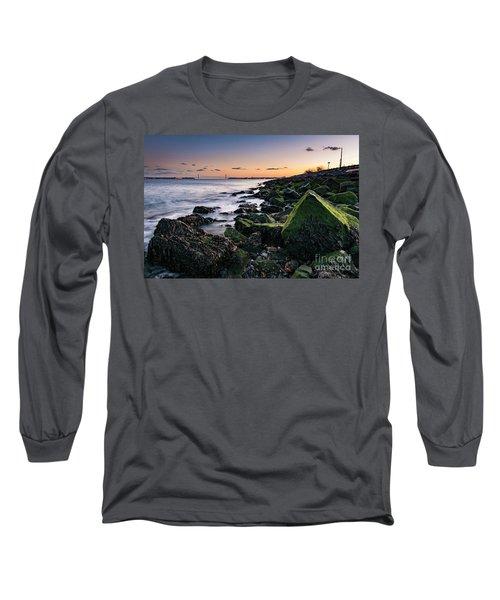Hudson River And Verrazano-narrows Bridge Long Sleeve T-Shirt