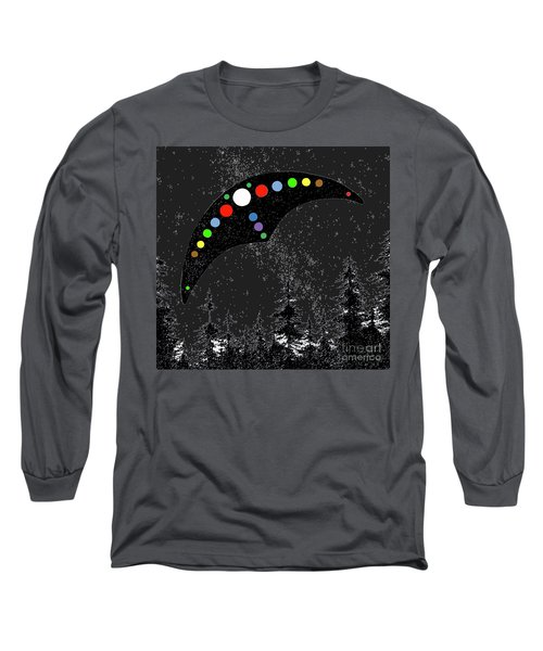 Long Sleeve T-Shirt featuring the painting Hudson Valley Ufo by James Williamson