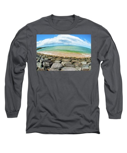 Long Sleeve T-Shirt featuring the photograph Huge Wikiki Beach by Micah May
