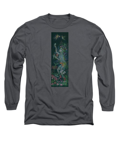 Long Sleeve T-Shirt featuring the drawing Hum by Dawn Fairies