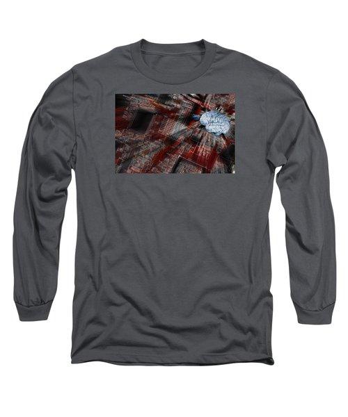 Human Brain, Intelligence And Communication Long Sleeve T-Shirt by Christian Lagereek