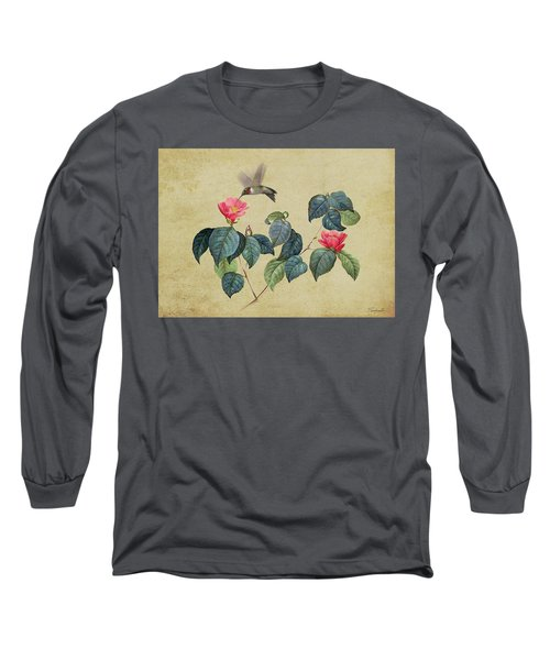 Hummingbird And Japanese Camillea Long Sleeve T-Shirt