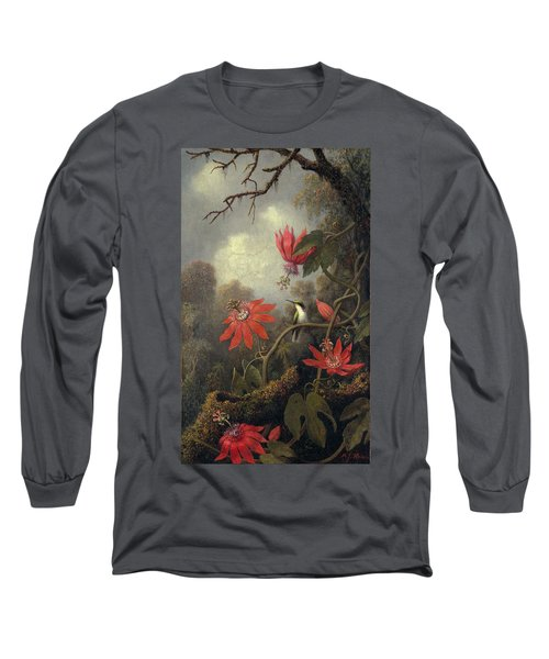 Hummingbird And Passion Flowers Long Sleeve T-Shirt