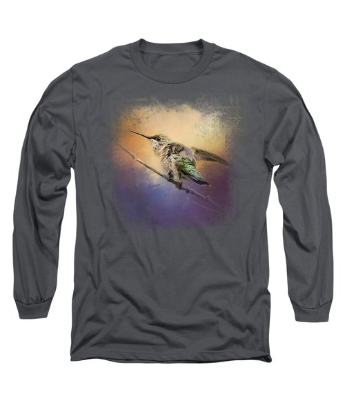Hummingbird At Sunset Long Sleeve T-Shirt