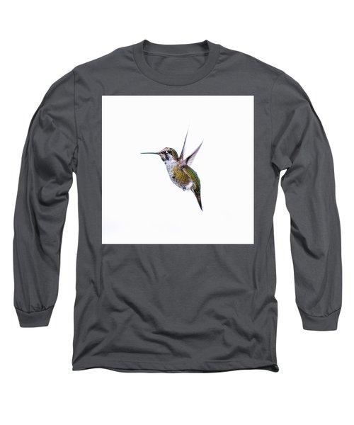 Hummingbird In Flight Long Sleeve T-Shirt