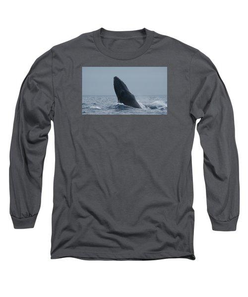 Humpback Whale Breaching Long Sleeve T-Shirt
