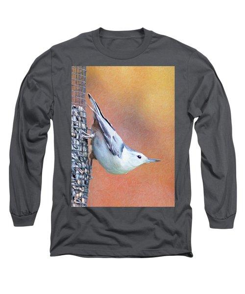 Hungry Nuthatch Long Sleeve T-Shirt