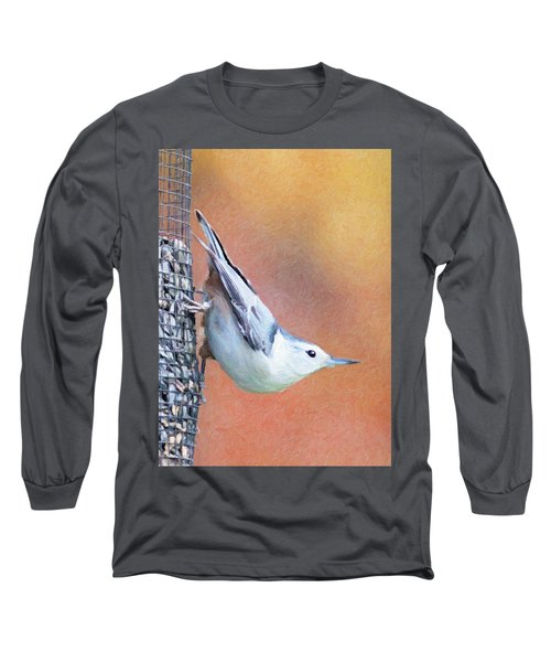 Hungry Nuthatch Long Sleeve T-Shirt