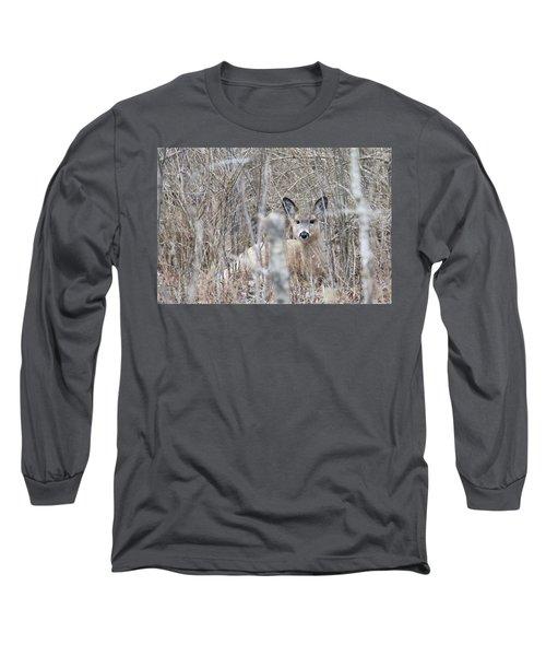 Hunkered Down Long Sleeve T-Shirt by Brook Burling