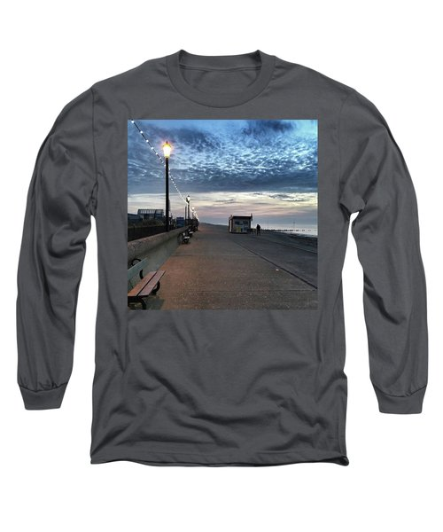 Hunstanton At 5pm Today  #sea #beach Long Sleeve T-Shirt