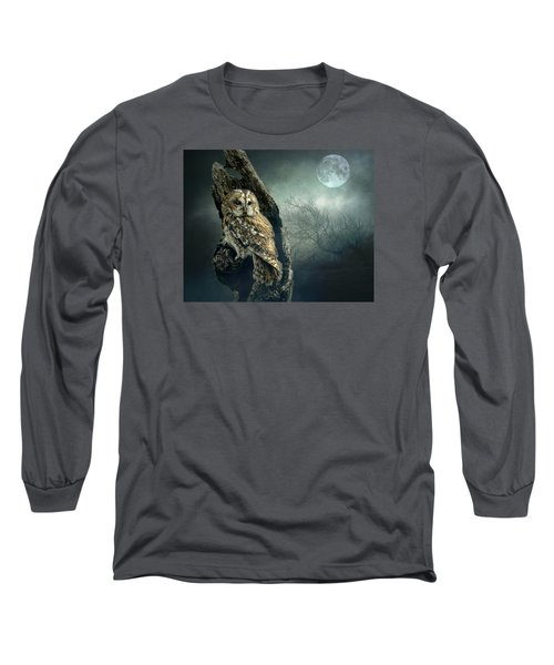 Long Sleeve T-Shirt featuring the photograph Hunter's Moon by Brian Tarr