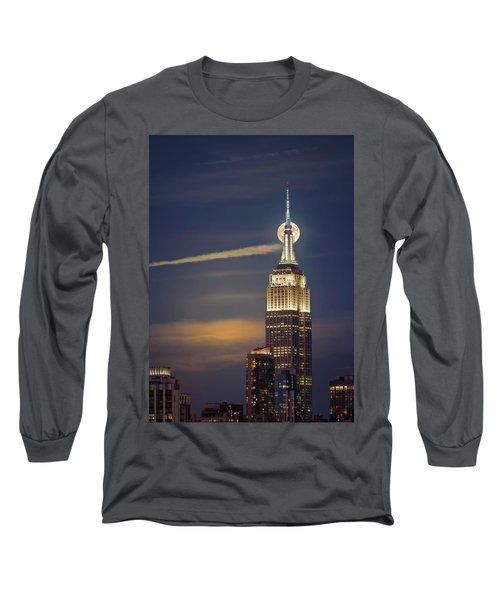 Long Sleeve T-Shirt featuring the photograph Hunter's Moon by Eduard Moldoveanu
