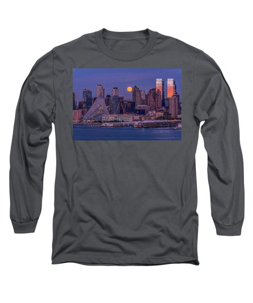 Hunter's Moon Over Ny Long Sleeve T-Shirt