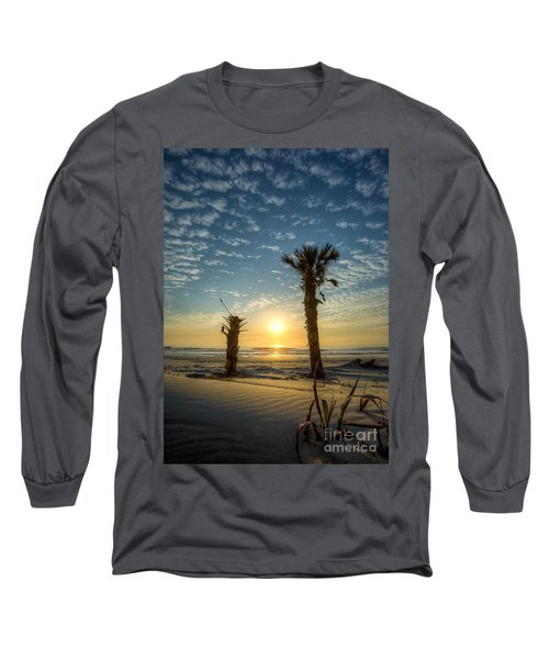 Hunting Island State Park Beach Sunrise Long Sleeve T-Shirt
