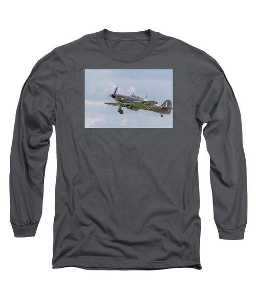 Hurricane Taking Off Long Sleeve T-Shirt by Gary Eason