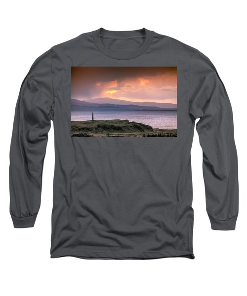 Hutcheson's Monument On The Isle Of Kerrera At Sunset Long Sleeve T-Shirt