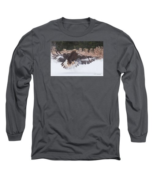 Hunting In The Snow Long Sleeve T-Shirt by CR Courson