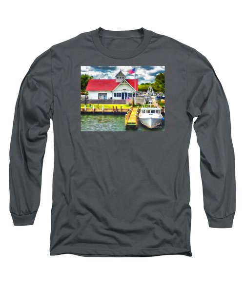 Long Sleeve T-Shirt featuring the photograph Hyannis The Coastguard by Jack Torcello
