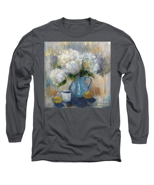 Hydrangea Morning Long Sleeve T-Shirt by Jennifer Beaudet