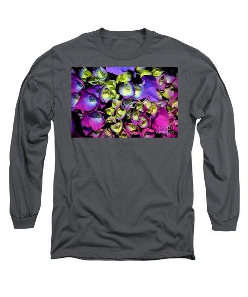 Hydrangea Long Sleeve T-Shirt by Vivian Krug Cotton